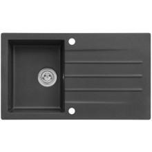 ALVEUS CORTINA 130 granitový dřez, 860 x 500 mm, sifon + záslepka, černá