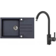 ALVEUS Set ROCK 130 dřez 780x480 mm + baterie TONIA, černá