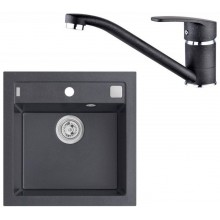 ALVEUS Set FORMIC 20 dřez 520x510 mm + baterie NINA, černá
