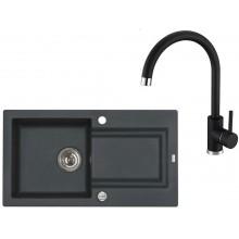 ALVEUS Set FALCON 30 dřez 780x435 mm + baterie TONIA, černá
