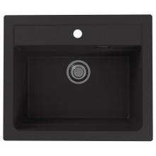ALVEUS ATROX 30 kuchyňský dřez granitový, 590 x 500 mm, black 1131996