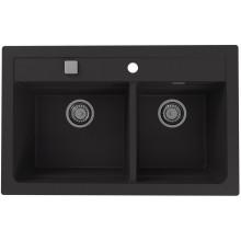 ALVEUS ATROX 50 kuchyňský dřez granitový, 790 x 500 mm, black 1132002