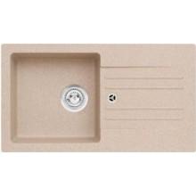 ALVEUS Cortina 140 granitový dřez, 750 x 420 mm, sifon + záslepka, béžová