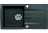ALVEUS Cortina 70 granitový dřez, 780 x 435 mm, sifon pop-up, černá Cortina70/BLACK
