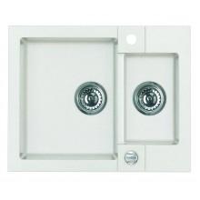 ALVEUS ROCK 80 granitový kuchyňský dřez 595x475 mm, bílá
