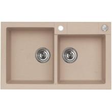 ALVEUS ROCK 90 kuchyňský dřez granitový, 780x480 mm, béžová