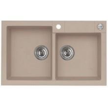 ALVEUS ROCK 90 granitový kuchyňský dřez 780x480 mm, béžová