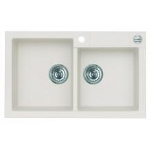 ALVEUS ROCK 90 granitový kuchyňský dřez 780x480 mm, bílá