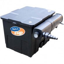 AQUAcup Omega-CUV 218 beztlakový filtr s lampou, s vířivým samočistícím efektem AQ6530