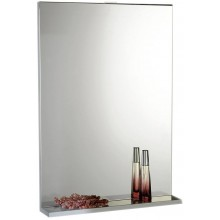 AQUALINE BETA zrcadlo s poličkou 50x70cm, bílá 57396