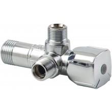 ARCO kombinovaný rohový ventil A-80 se dvěma vývody 1/2'x3/8'x3/8', anticalc
