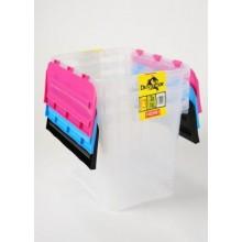 HEIDRUN set 3ks úložný box s integrovaným víkem, 30 x 39,5 x 29,5 cm, 24 l, 31649