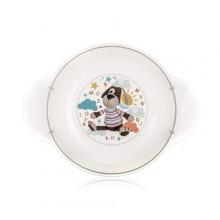 BANQUET Dětský plastový hluboký talíř 208x158x44 mm, motiv DOG 55PL4KDSOWL