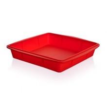 BANQUET Silikonový pekáč 23x23x4 cm Culinaria red 3120050R