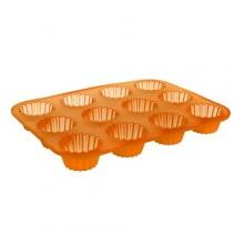 BANQUET Silikonová forma 12ks košíčky malé 32x24x3,4 cm Culinaria orange 3120125O