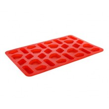 BANQUET Silikonová forma na cukroví 31x21x1cm Culinaria red 3120140R