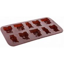 BANQUET Silikonové formičky na čokoládu zvířátka Culinaria brown
