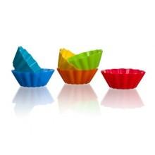 BANQUET 6d sada silikonových košíčků o5,3x2 cm Culinaria 3122110MIX