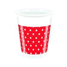 PROCOS Nápojový pohár 200 ml, 10KS Red Dots 4480710