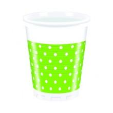PROCOS Nápojový pohár 200 ml, 8KS Green Dots 4483206