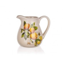 BANQUET Džbánek Lemon 880ml 60ZF1085LM Objem (ml): 700, 300, 140 Počet ks v sadě: 3 Materiál: Keramika, Silikon Barva: Bílá, modrá