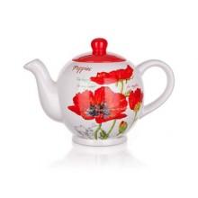 BANQUET Konvice 1200ml Red Poppy OK 60ZF1171RP Objem (ml): 700, 300, 140 Počet ks v sadě: 3 Materiál: Keramika, Silikon Barva: Bílá, modrá