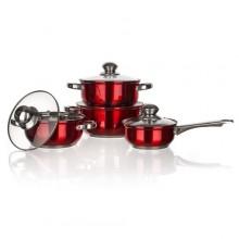 BANQUET MAESTRO Red Sada nerezového nádobí 8 ks 48HF09RC08-A
