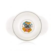 BANQUET Dětská plastová miska 175x124x59 mm, motiv Owl 55BW4KDSOWL