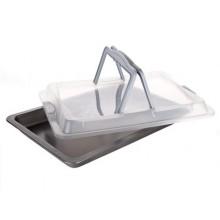 BANQUET Pečící plech s plastovým víkem 42x29x4 cm Culinaria 19YLK502-B