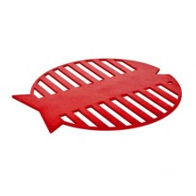 BANQUET Silikonová podložka ryba 20 cm Culinaria red 3126400R