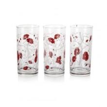 VETRO-PLUS ISTAMBUL Sada sklenic 290 ml, 3 ks, červená serenáda 33424025199