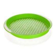BANQUET Plastový tác 40*40*4 cm zelený, protiskluzový 12G56GR