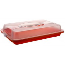 BANQUET Podnos plastový s poklopem 44,5x24x8,7 cm, oranžová 557905