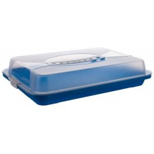 BANQUET Podnos plastový s poklopem 44,5x24x8,7 cm, modrá 557905