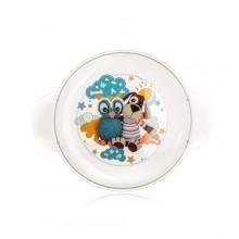 BANQUET Dětský plastový mělký talíř 234x183x24 mm, motiv: Owl 55DPL4KDSOWL