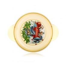 BANQUET Dětský plastový mělký talíř 234x183x24 mm, motiv: Monkey 55DPL4KDS