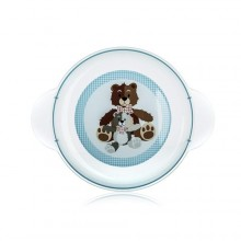 BANQUET Dětský plastový mělký talíř 234x183x24 mm, motiv: Bear 55DPL4KDSBR