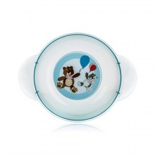 BANQUET Dětský plastový hluboký talíř 208x158x44 mm, motiv BEAR 55PL4KDSBR