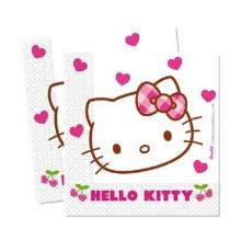 PROCOS Ubrousky 2-vrstvé 33x33 cm, 20 KS Hello Kitty 4481794