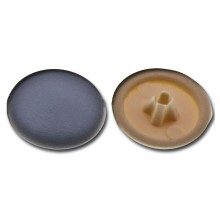 Krytka plastiková pro univerzální vruty šedá, 40 ks