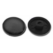 Krytka plastiková pro univerzální vruty černá, 40 ks