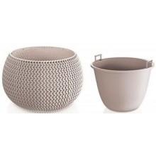 VÝPRODEJ PROSPERPLAST SPLOFY Bowl WS závěsný květináč 29 cm, mocca DKSP290WS BEZ LANKA