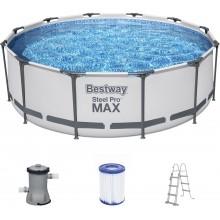 BESTWAY Bazén Steel Pro Max, kartušová filtrace 366x100 cm 56418