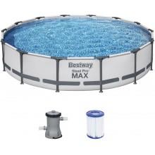 BESTWAY Bazén Steel Pro Max, kartušová filtrace 427x84 cm 56595