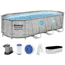 BESTWAY Bazénový set Rattan Swim Vista, kartušová filtrace 549x274x122 cm 56716