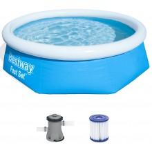 BESTWAY Bazén Fast Set, kartušová filtrace 244 x 66 cm 57268