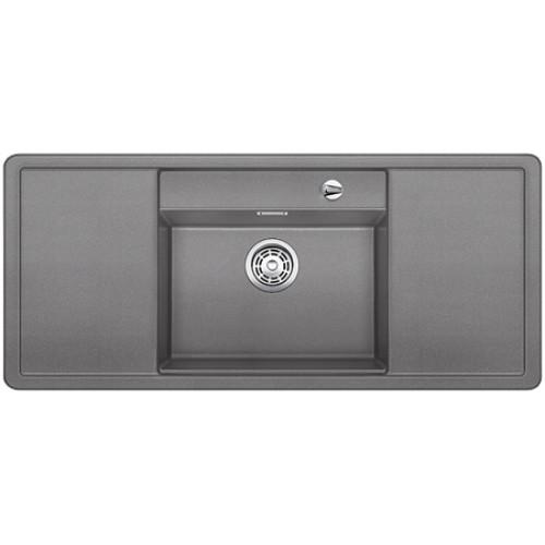 BLANCO Alaros 6 S dřez Silgranit aluminium, příslušenství černé 516557