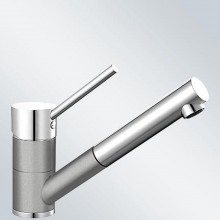 BLANCO Antas-S dřezová baterie Silgranit-look, beztlaková, aluminium/chrom 516765