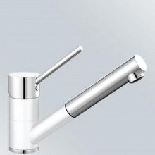 BLANCO Antas-S dřezová baterie Silgranit-look, beztlaková, bílá/chrom 516766