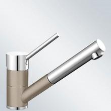 BLANCO Antas-S dřezová baterie Silgranit-look, beztlaková, tartufo/chrom 517638